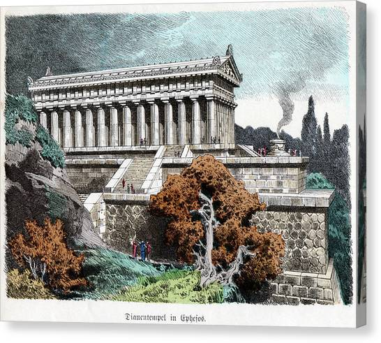 Artemis Canvas Print - Temple Of Artemis by Cci Archives