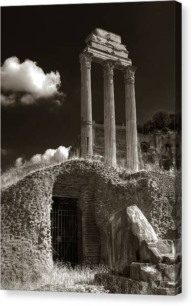Temple Of Castor And Polux Canvas Print