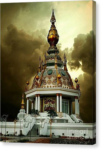 Temple Of Clouds  Canvas Print
