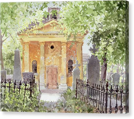 Church Yard Canvas Print - Temple Of Harmony, Vesprem, Hungary, 1996 Wc On Paper by Lucy Willis
