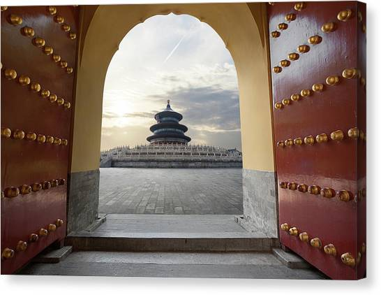 Temple Of Heaven Canvas Print by Zyxeos30