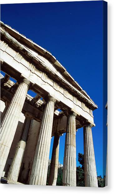 Temple Of Hephaestus At Ancient Agora Canvas Print