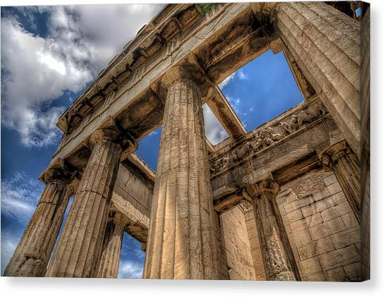 Temple Of Hephaestus Canvas Print