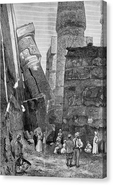 Egyptian Art Canvas Print - Temple Of Karnak by Bildagentur-online/tschanz