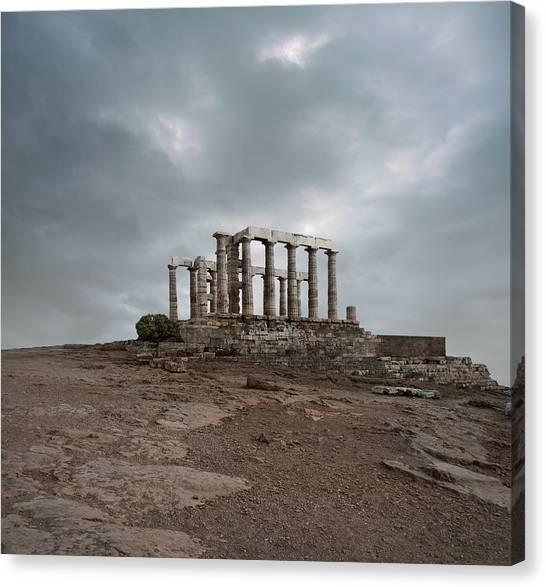 Temple Of Poseidon At Sounion, Greece Canvas Print