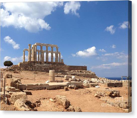 Temple Of Poseidon Canvas Print