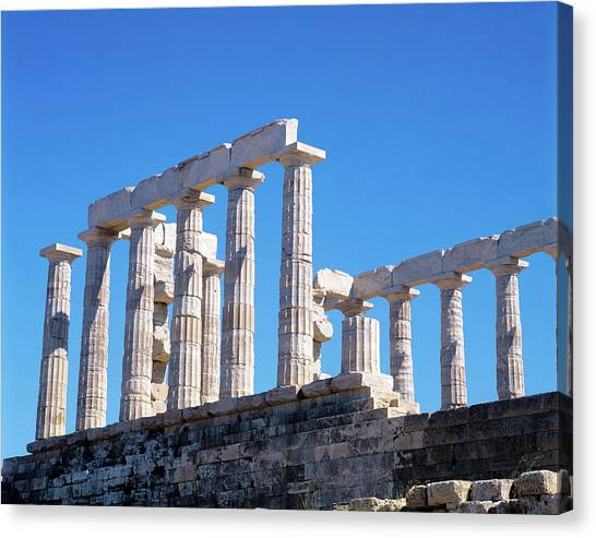 Temple Of Poseidon In Sounion, Greece Canvas Print