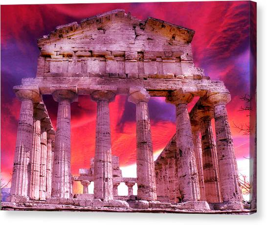 Temple Of The Gods Canvas Print