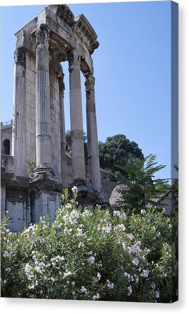 Temple Of Vesta Canvas Print