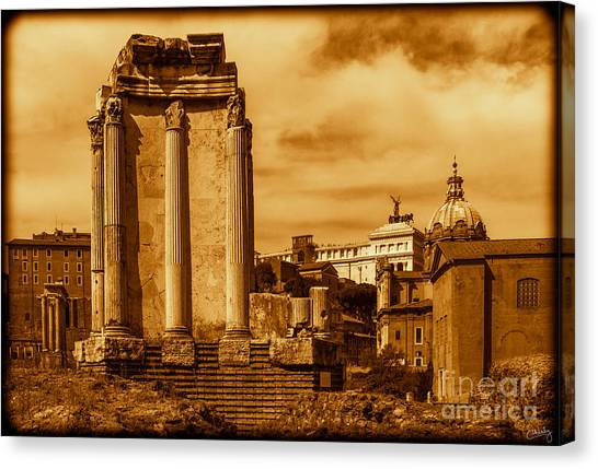 Temple Of Vesta Canvas Print