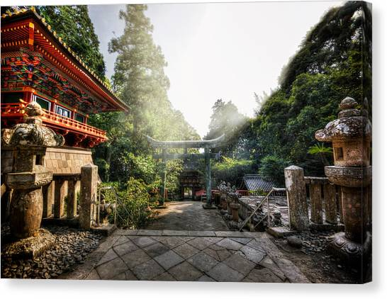 Temple Pathway Canvas Print