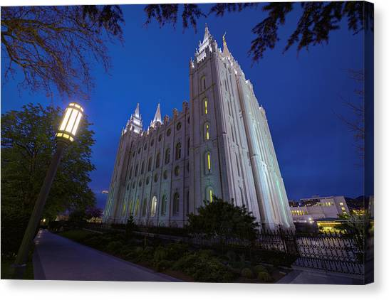 Temple Canvas Print - Temple Perspective by Chad Dutson