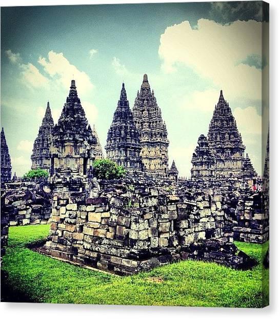 Hinduism Canvas Print - #temple #prambanan #indonesia #travel by Fajar Triwahyudi