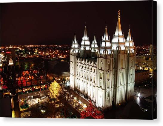 Temple Square Canvas Print
