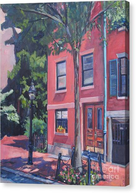 Temple Street Beacon Hill Canvas Print