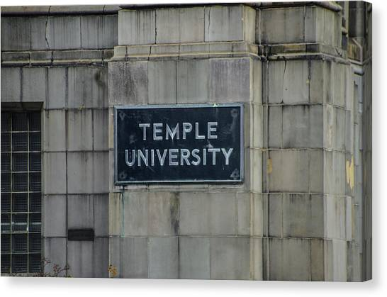 Temple University Canvas Print - Temple U by Bill Cannon