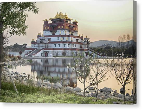 Temple Wuxi China Color Canvas Print