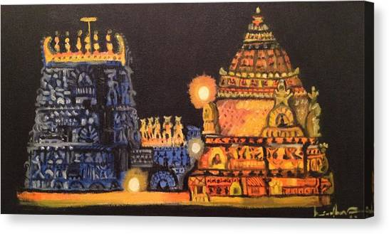 Templelights Canvas Print