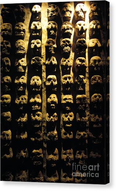 City Of The Dead Canvas Print - Templo Mayor by Mark Newman