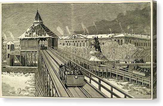 Temporary Railway Constructed Canvas Print by Mary Evans Picture Library