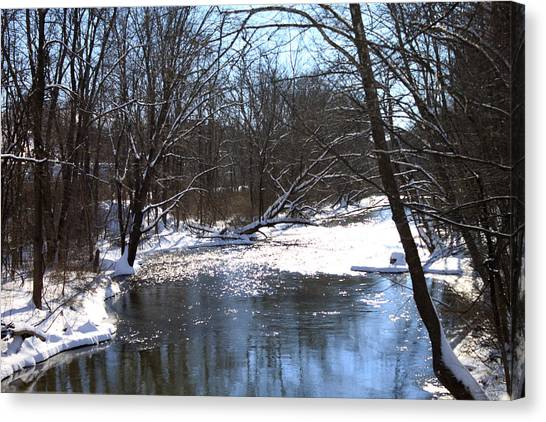 Ten Mile River Canvas Print by Barbara Giordano
