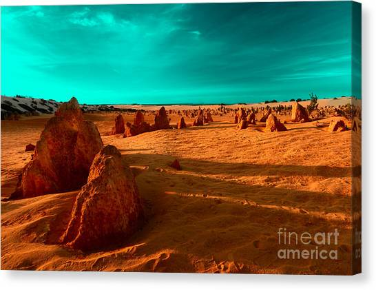 Canvas Print featuring the photograph Ten Thousand Years by Julian Cook