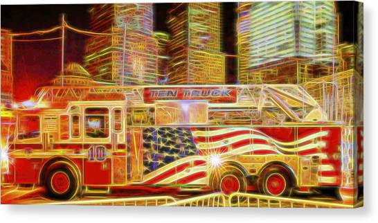 Ten Truck Canvas Print