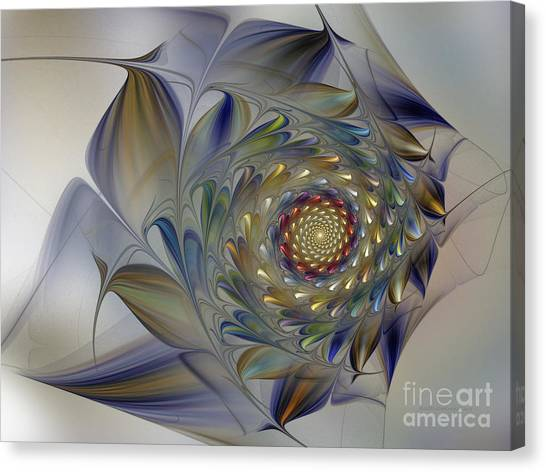 Tender Flowers Dream-fractal Art Canvas Print