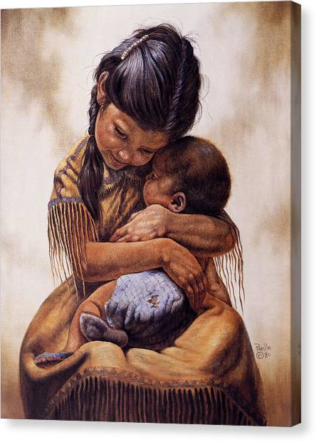 Unconditional Love Canvas Print - Tender Love by Gregory Perillo