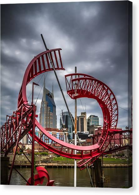 Tennessee - Nashville Through Sculpture Canvas Print