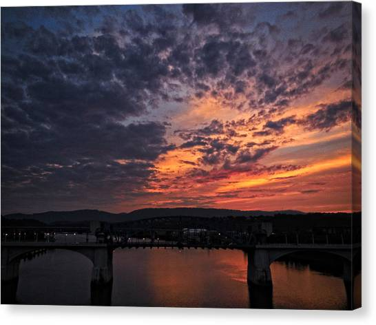Tennessee River Sunset 2 Canvas Print