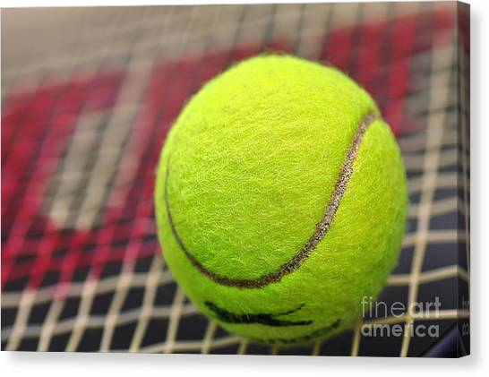 Tennis Racquet Canvas Print - Tennis Anyone... by Kaye Menner