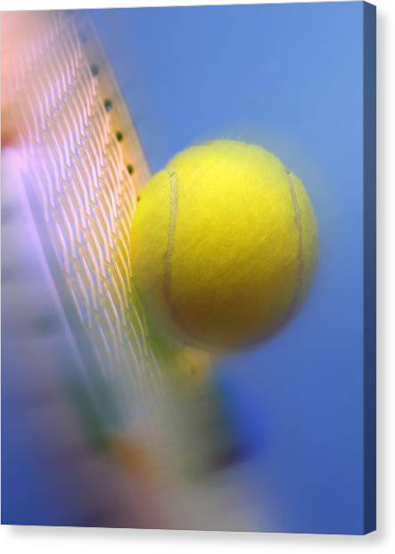 Tennis Racquet Canvas Print - Tennis Ball And Racquet by Science Photo Library