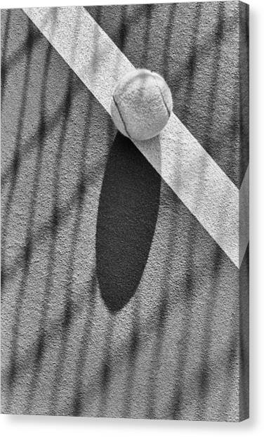 Tennis Ball And Shadows Canvas Print