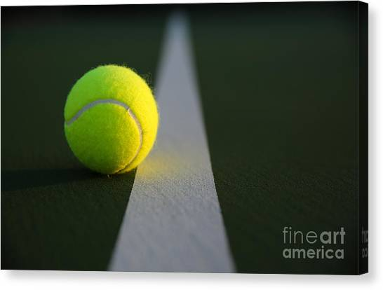 Tennis Ball At Last Light Canvas Print