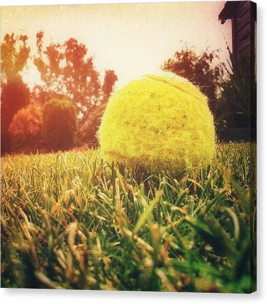 Tennis Ball Canvas Print - #tennis #ball #chill #relax #friends by Michal Marek