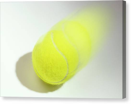 Fast Ball Canvas Print - Tennis Ball In Motion by Ton Kinsbergen/science Photo Library