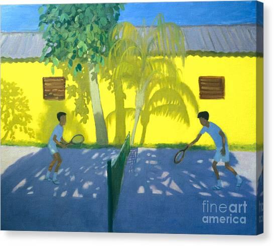 Tennis Racquet Canvas Print - Tennis  Cuba by Andrew Macara