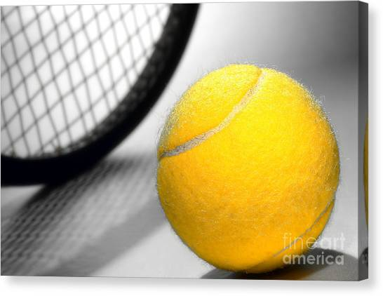 Tennis Ball Canvas Print - Tennis by Olivier Le Queinec
