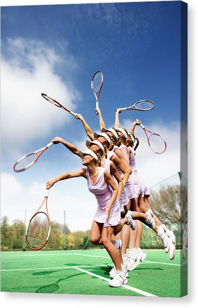 Tennis Racquet Canvas Print - Tennis Player by Gustoimages/science Photo Library
