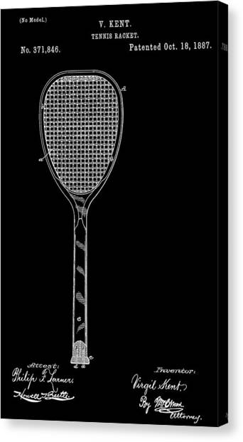 Tennis Racquet Canvas Print - Tennis Racket by Dan Sproul