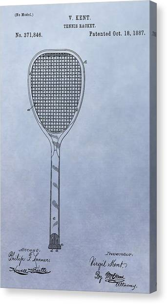 Tennis Racquet Canvas Print - Tennis Racket Patent by Dan Sproul