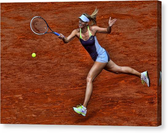 Maria Sharapova Canvas Print - Tennis Star Maria Sharapova by Srdjan Petrovic