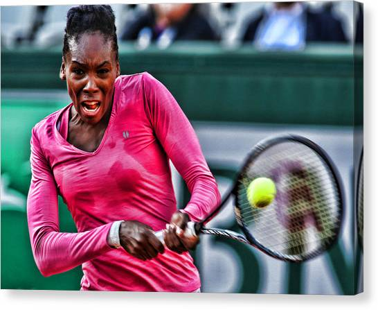 Venus Williams Canvas Print - Tennis Star Venus Williams by Srdjan Petrovic