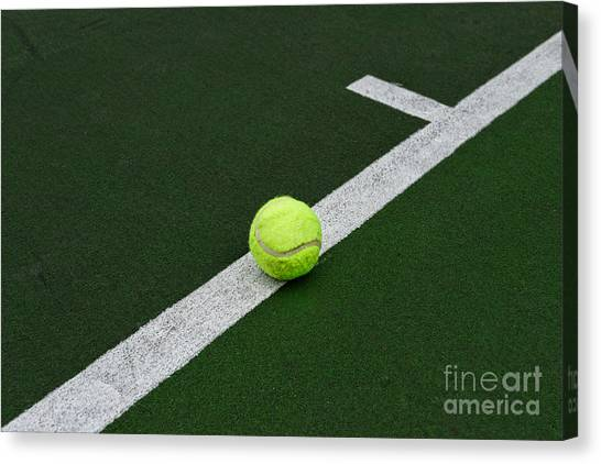 Tennis Racquet Canvas Print - Tennis - The Baseline by Paul Ward