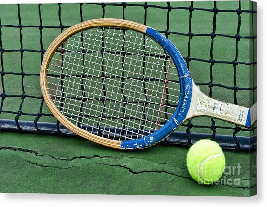 Tennis Racquet Canvas Print - Tennis - Vintage Tennis Racquet by Paul Ward
