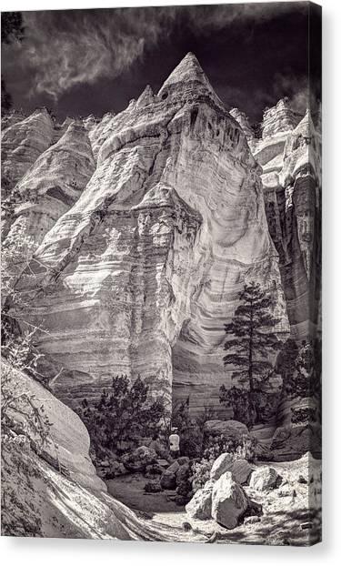 Tent Rocks No. 2 Bw Canvas Print