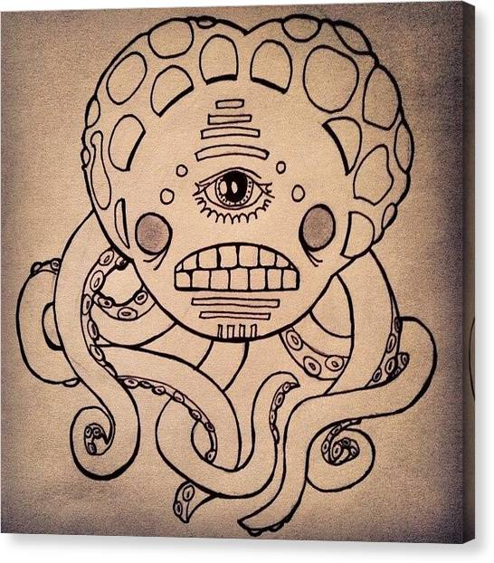 Squids Canvas Print - #tentacles #octopus #tentacle #tendril by Timothy Vee