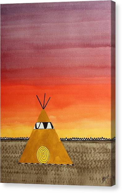 Tepee Or Not Tepee Original Painting Canvas Print