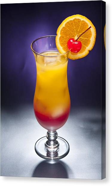 Tequila Sunrise Canvas Print - Tequila Sunrise Cocktail by U Schade